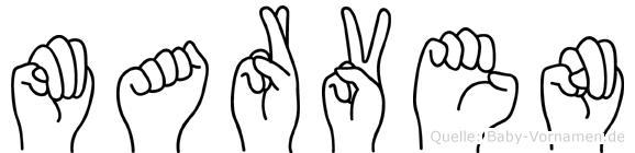 Marven in Fingersprache für Gehörlose