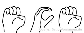 Ece in Fingersprache für Gehörlose