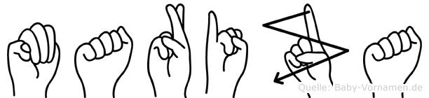 Mariza in Fingersprache für Gehörlose
