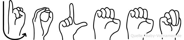 Joleen im Fingeralphabet der Deutschen Gebärdensprache