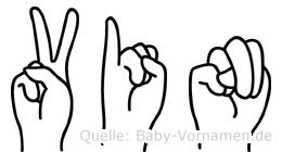 Vin in Fingersprache für Gehörlose