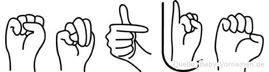 Süntje im Fingeralphabet der Deutschen Gebärdensprache