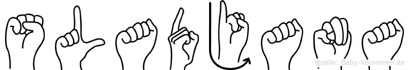 Sladjana im Fingeralphabet der Deutschen Gebärdensprache