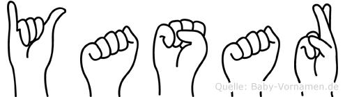 Yasar im Fingeralphabet der Deutschen Gebärdensprache