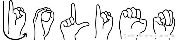 Jolien in Fingersprache für Gehörlose
