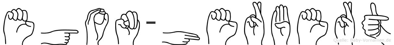 Egon-Herbert im Fingeralphabet der Deutschen Gebärdensprache