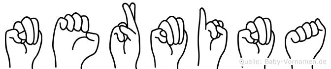 Nermina im Fingeralphabet der Deutschen Gebärdensprache