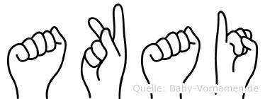 Akai in Fingersprache für Gehörlose