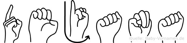Dejana in Fingersprache für Gehörlose