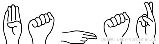 Bahar in Fingersprache für Gehörlose