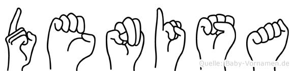 Denisa im Fingeralphabet der Deutschen Gebärdensprache