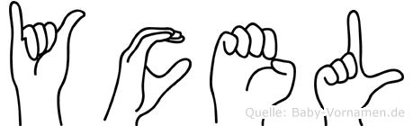 Yücel im Fingeralphabet der Deutschen Gebärdensprache