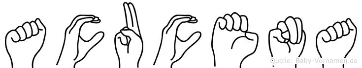 Acucena in Fingersprache für Gehörlose