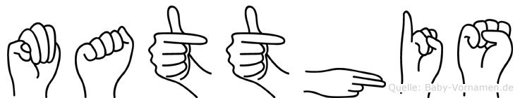 Matthis im Fingeralphabet der Deutschen Gebärdensprache
