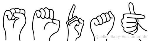 Sedat im Fingeralphabet der Deutschen Gebärdensprache