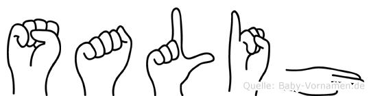 Salih in Fingersprache für Gehörlose