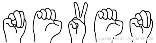 Neven im Fingeralphabet der Deutschen Gebärdensprache