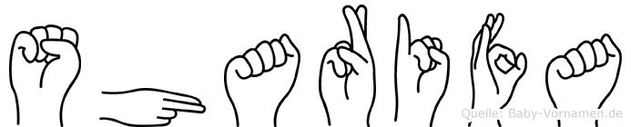 Sharifa in Fingersprache für Gehörlose