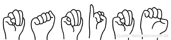 Namine im Fingeralphabet der Deutschen Gebärdensprache