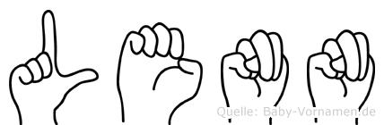 Lenn in Fingersprache für Gehörlose