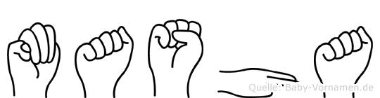 Masha in Fingersprache für Gehörlose