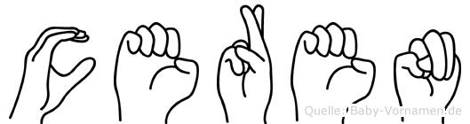 Ceren in Fingersprache für Gehörlose