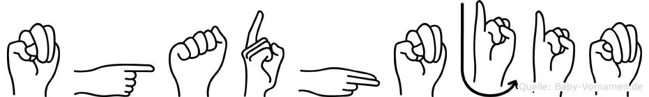 Ngadhnjim in Fingersprache für Gehörlose
