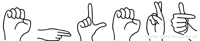 Ehlert in Fingersprache für Gehörlose