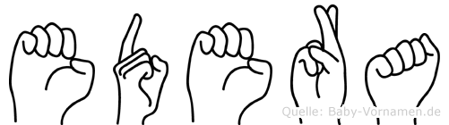 Edera in Fingersprache für Gehörlose