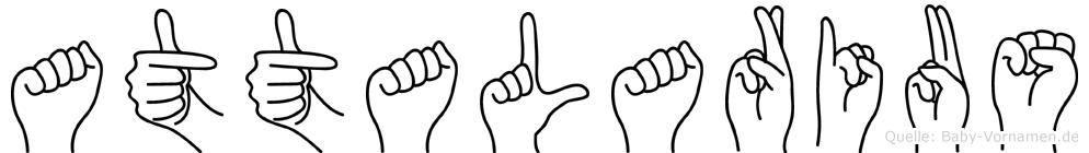 Attalarius im Fingeralphabet der Deutschen Gebärdensprache