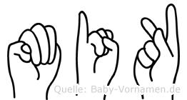 Mik im Fingeralphabet der Deutschen Gebärdensprache