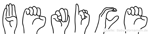 Benice in Fingersprache für Gehörlose
