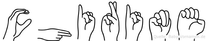 Chirine in Fingersprache für Gehörlose