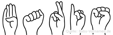 Baris im Fingeralphabet der Deutschen Gebärdensprache