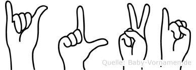 Ylvi im Fingeralphabet der Deutschen Gebärdensprache