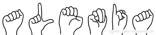 Alenia im Fingeralphabet der Deutschen Gebärdensprache