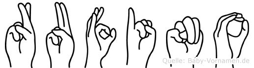 Rufino im Fingeralphabet der Deutschen Gebärdensprache