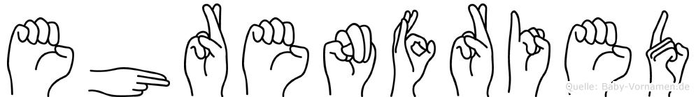 Ehrenfried in Fingersprache für Gehörlose