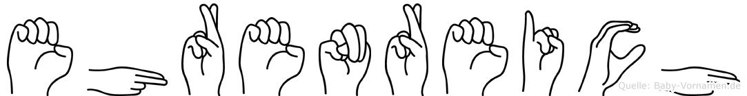 Ehrenreich in Fingersprache für Gehörlose