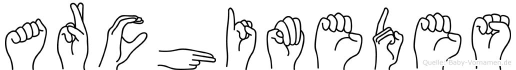 Archimedes in Fingersprache für Gehörlose