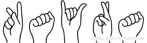Kayra im Fingeralphabet der Deutschen Gebärdensprache