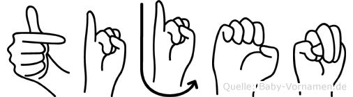 Tijen in Fingersprache für Gehörlose