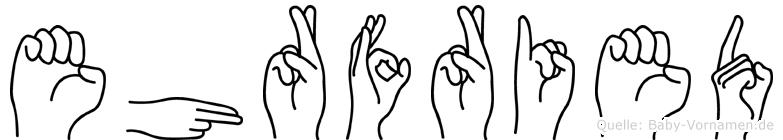 Ehrfried in Fingersprache für Gehörlose
