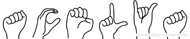 Acelya in Fingersprache für Gehörlose