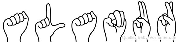 Alanur im Fingeralphabet der Deutschen Gebärdensprache