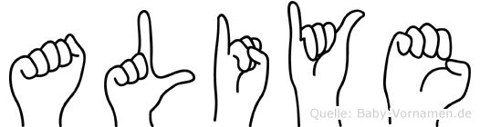 Aliye im Fingeralphabet der Deutschen Gebärdensprache