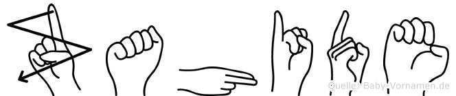 Zahide im Fingeralphabet der Deutschen Gebärdensprache
