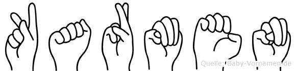 Karmen in Fingersprache für Gehörlose