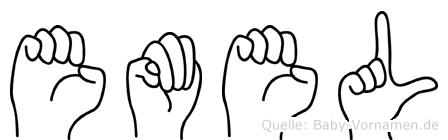 Emel im Fingeralphabet der Deutschen Gebärdensprache
