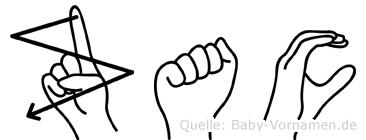 Zac in Fingersprache für Gehörlose